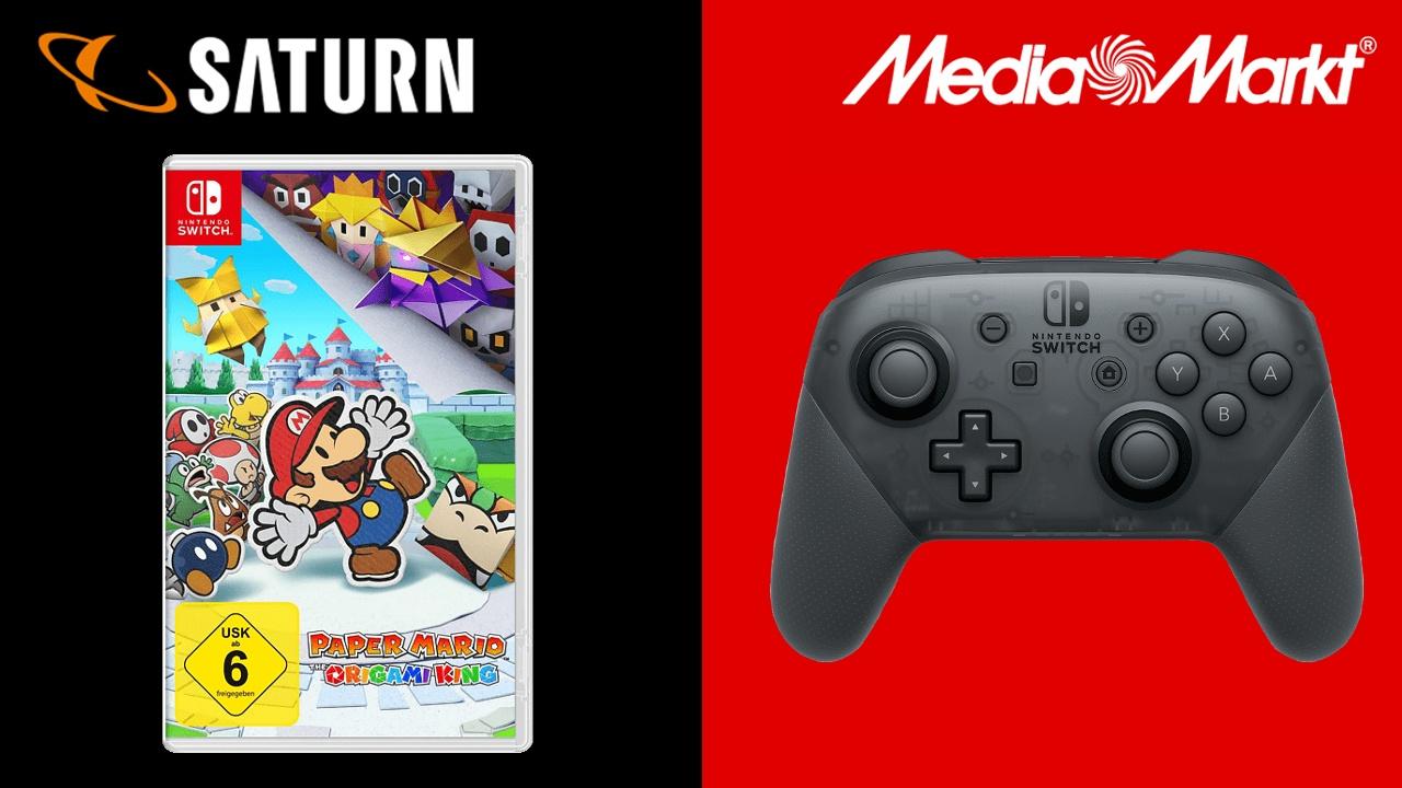 MediaMarkt & Saturn - Mario Brief mit Switch Pro Controller im Angebot