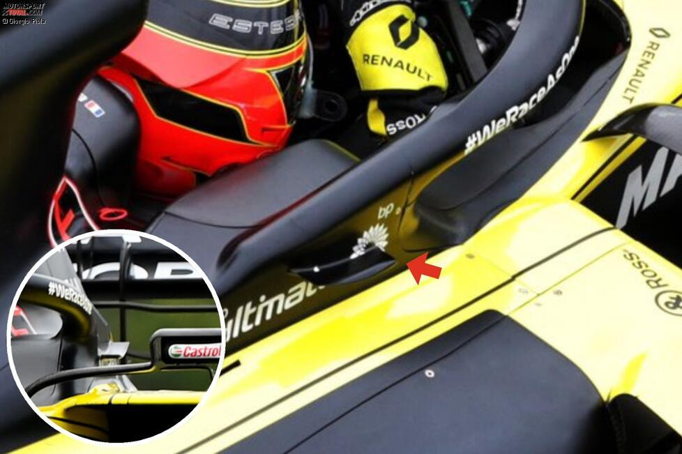 Renault RS20: Winglet am Halo-Cockpitschutz