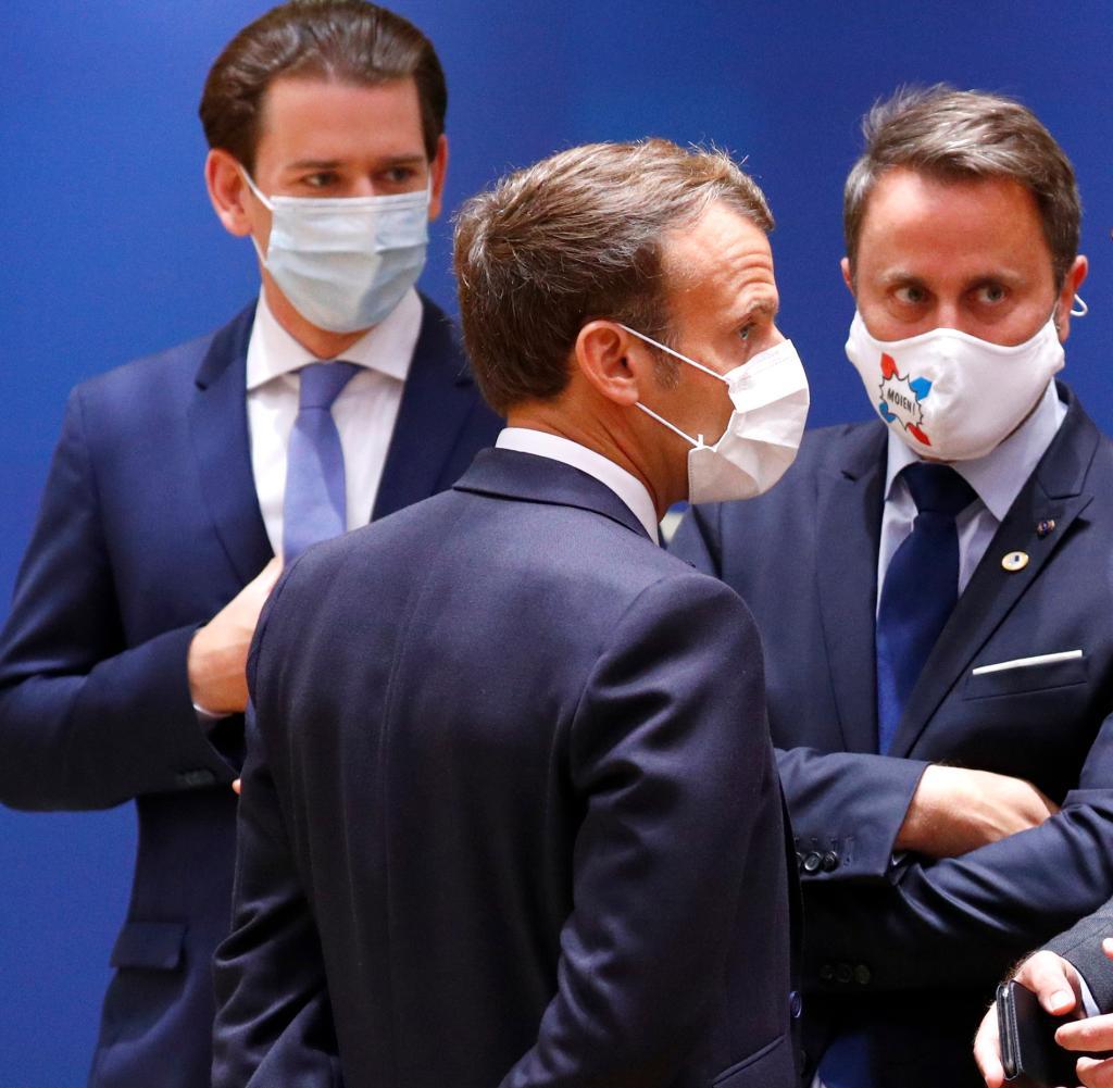 Zusammenstöße zwischen dem österreichischen Bundeskanzler Sebastian Kurz und dem französischen Präsidenten Emmanuel Macron