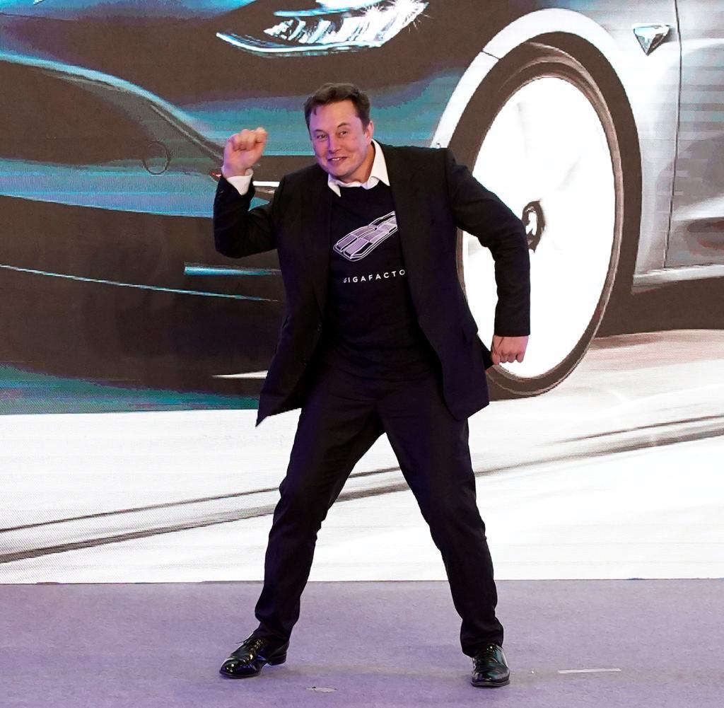 Derzeit läuft es für ihn sehr gut: Elon Musk (hier bei einer Präsentation im Januar)