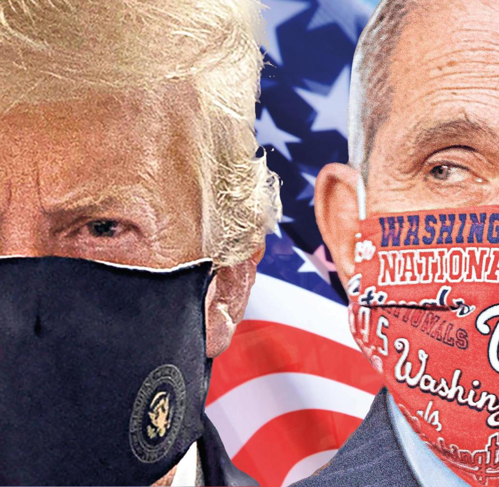Wird er ein Lösegeld werden?  Donald Trump und sein Top-Berater der Krone Anthony Fauci (rechts)