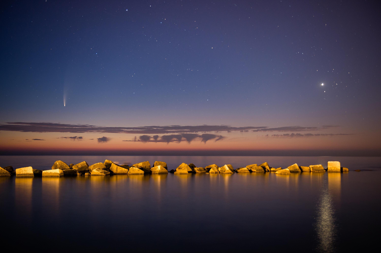 Bild des Neowise-Kometen