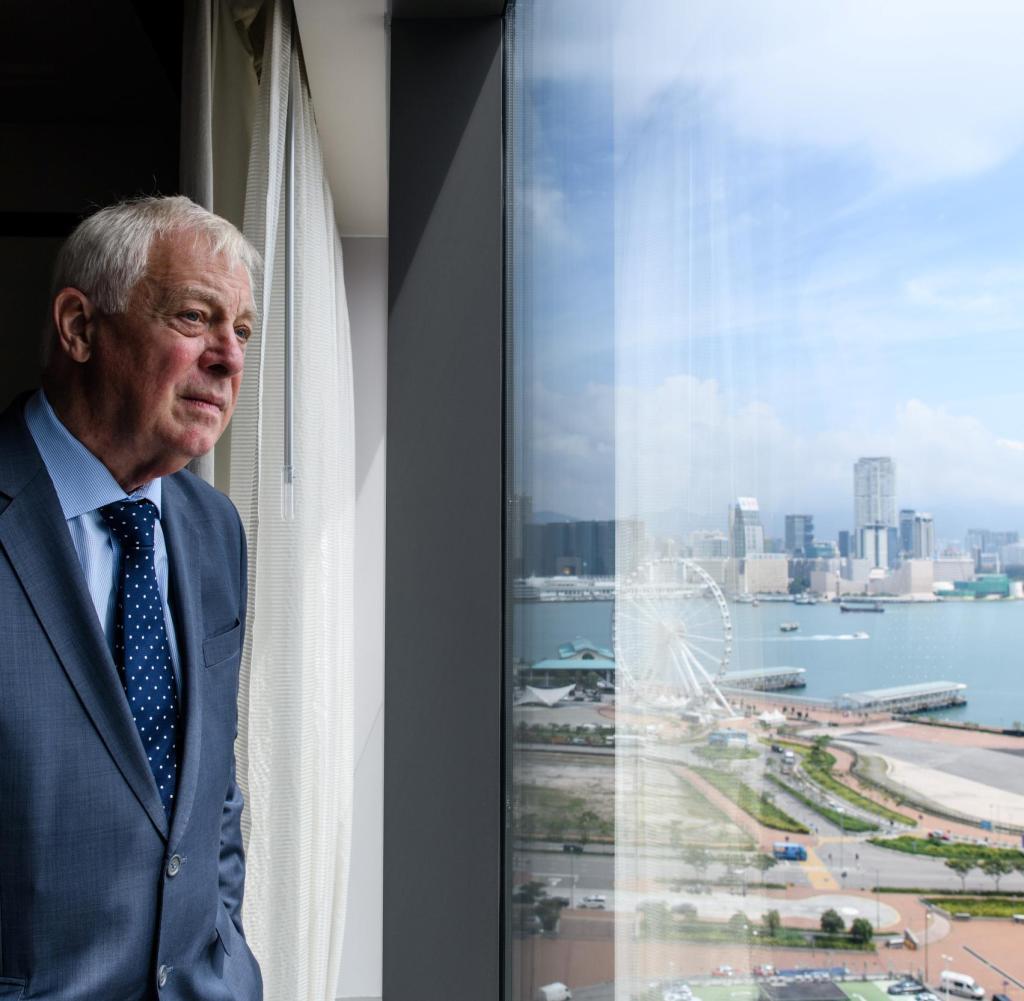 Chris Patten in Hongkong, der lange Zeit sein Zuhause war: Er ist sehr besorgt um die Zukunft der Metropole