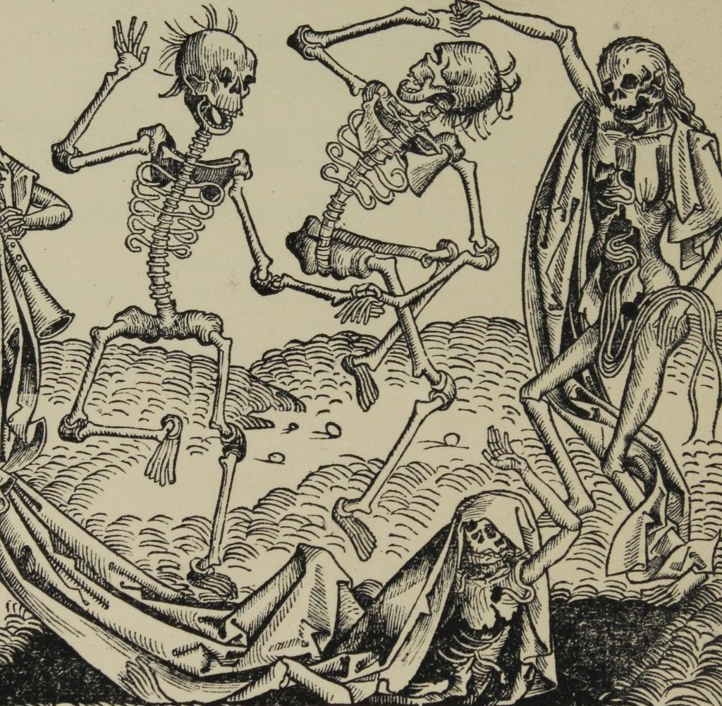 Der Tanz des Todes. Um 1493. Holzschnitt von Michael Wolgemuth |