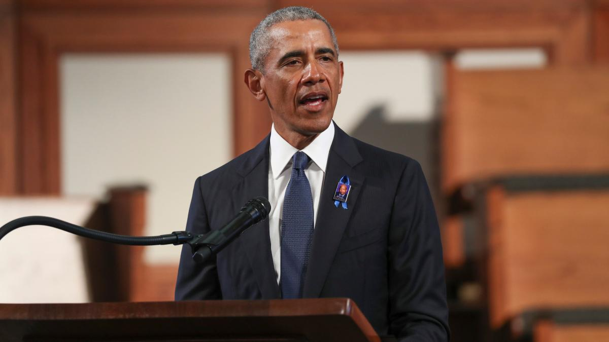 Photo of Barack Obamas Begräbnisrede wird verwendet, um Donald Trump zu lösen