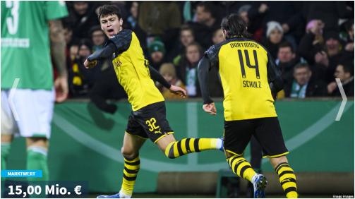 Vom Pulisic zum Chilenen: Die wertvollsten Spieler aus der Jugend des BVB