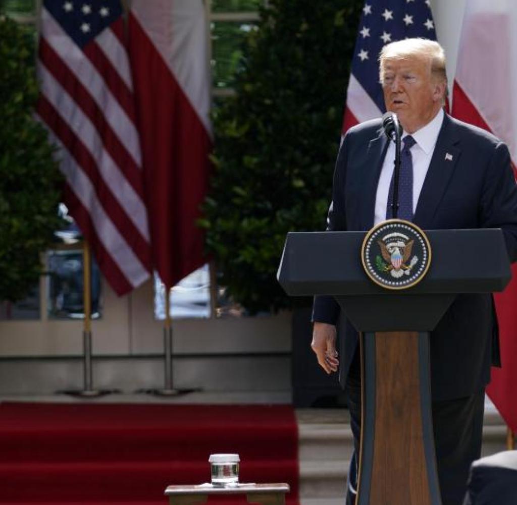 Der amerikanische Präsident scheint mit niemandem in Europa wie den Polen in Einklang zu stehen.  Hier: Trump und Präsident Duda im Juni im Weißen Haus