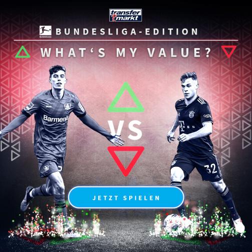 © imago images / TM - Wie hoch ist Ihre Punktzahl?  Probieren Sie jetzt das neue Spiel Whats My Value in der Bundesliga aus!