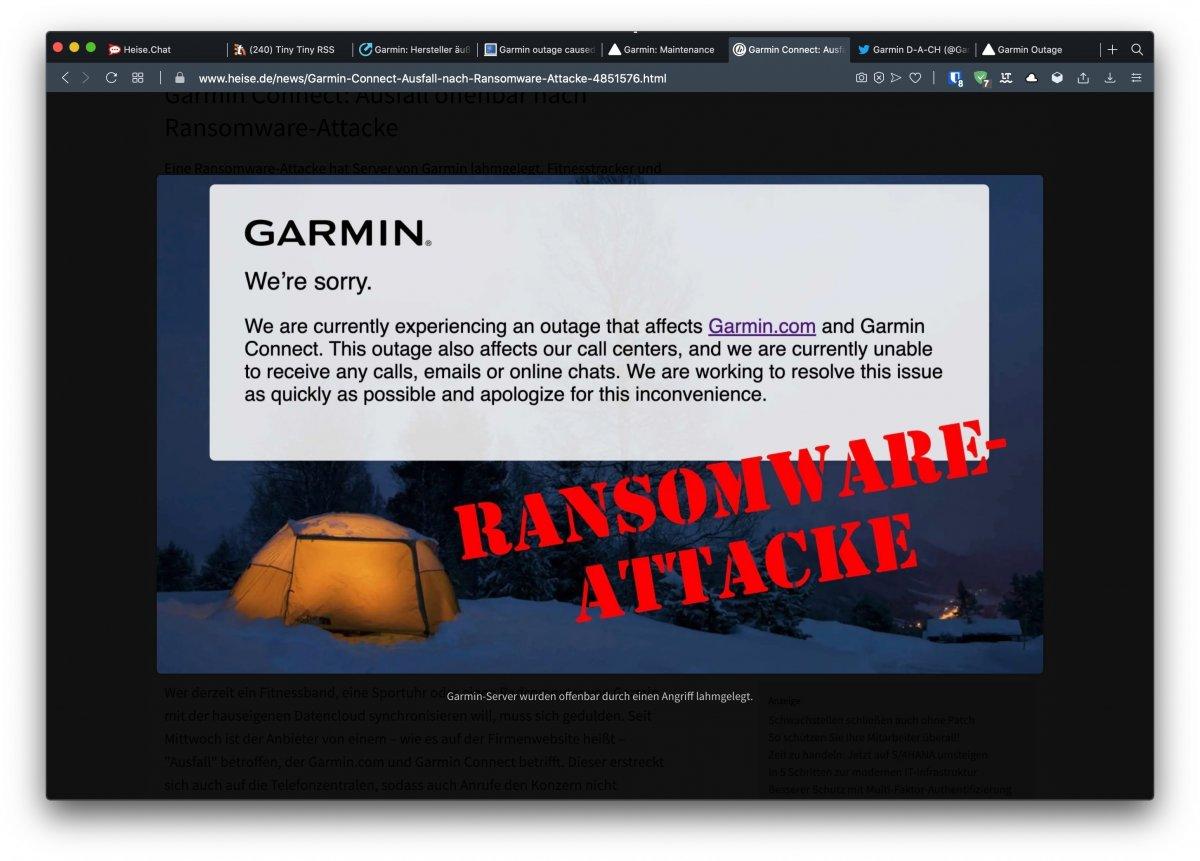 Photo of Garmin Service- und Supportfehler: Wahrscheinlich die Opferfirma von 'WastedLocker'