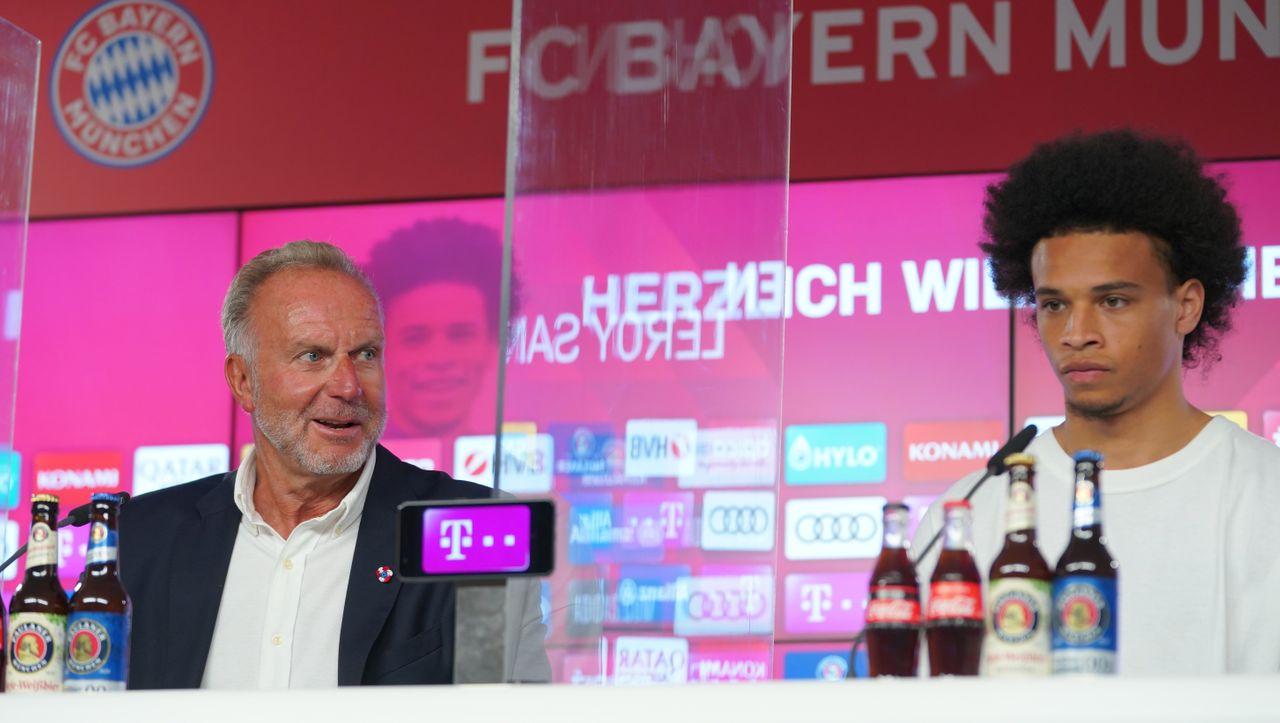 Leroy Sané stellte in Bayern München vor: Sie sind glücklich, sie feiern