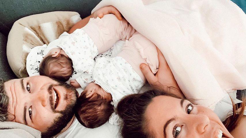 Christian und Janina El Arguioui mit ihren Kindern