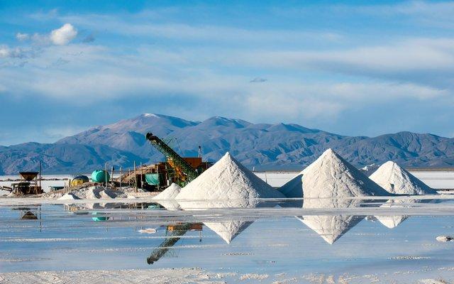 Salzminen für die Lithiumproduktion.