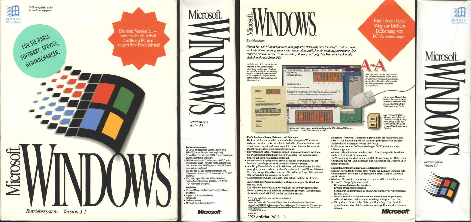 Windows 3.1 - Vollversion
