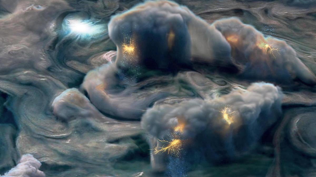 Photo of Auf Jupiter: Blitze aus exotischen Wolken
