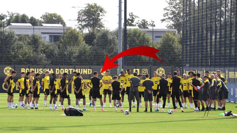 Photo of Borussia Dortmund: Wer ist die Notaufnahme?  Unbekannter Spieler im BVB-Eröffnungstraining