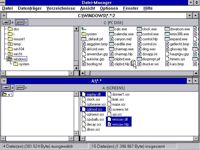 Drag'n'Drop unter Windows 3.1