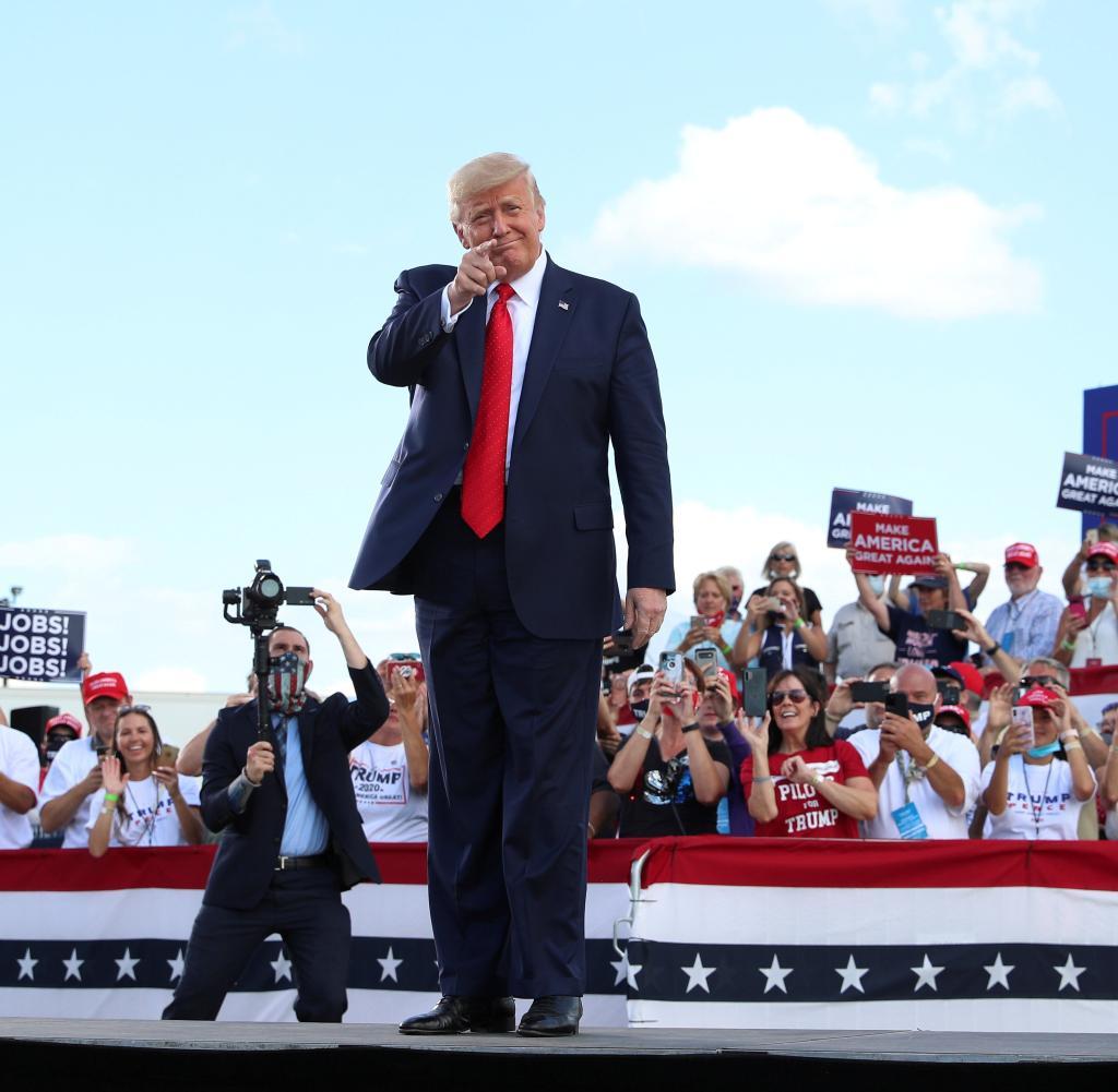 Mit seiner Rede in Oshkosh hatte Trump ein Hauptziel: die Show den Demokraten zu stehlen.
