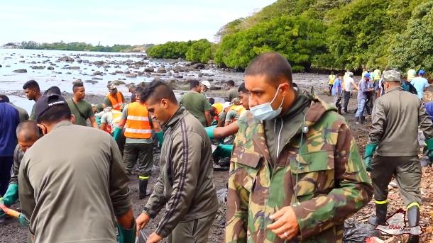 Umweltkatastrophe auf Kronenbasis: Die Vereinten Nationen kündigten ihre Unterstützung an.  (Quelle: Reuters / REUBEN PILLAY / REUBSVISION.MU, Virtuelle Tour durch Mauritius)