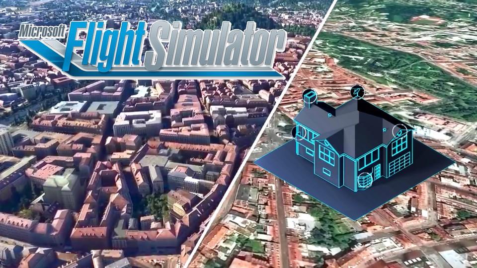 Der Flugsimulator verfügt über eine KI-Technologie, die in Gebäuden und Landschaften eine beeindruckende Liebe zum Detail erzielt.