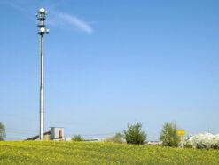 LTE-Basisstation vor Ort