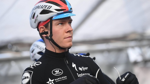 Im Deceuninck-Quick-Step-Trikot: Fabio Jakobsen fährt seit 2018 für das berühmte Team. (Quelle: imago / Belga images)