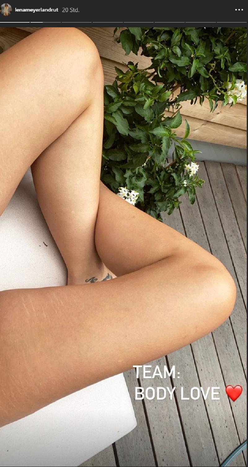 """Lena Meyer-Landrut: Sie spielt in einer Mannschaft """"Körperliebe"""".  (Quelle: Instagram / Lena Meyer-Landrut)"""