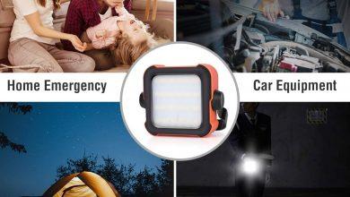 Photo of Led Strahler Akku, Arbeitsleuchte Led Akku Campinglampe mit 10000mAh Powerbank USB Wiederaufladbare Tragbar Outdoor Flutlicht, mit 15 Lichtmodi für Stromausfällen, Camping, Werkstatt, Notfall usw